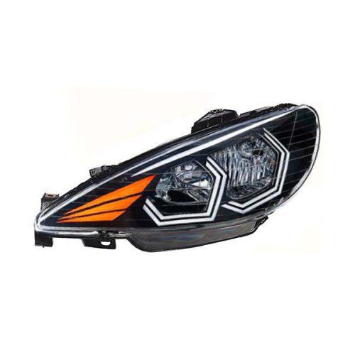 چراغ جلو اسپرت پژو 206 طرح E40 Plus