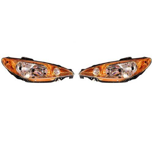 چراغ جلو اسپرت پژو 206 طرح کروم طلایی
